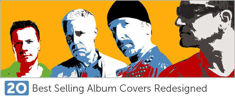 Best Selling Album Covers Redesigned
