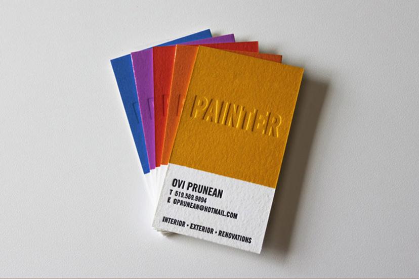 business card design for ovi prunean