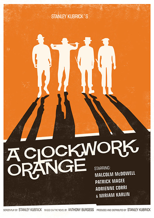 Iconic Movie Posters Re-imagined A Clockwork Orange Poster