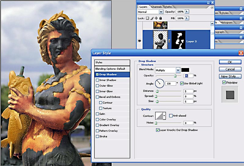 Bringing a stone statue to life Photoshop tutorial
