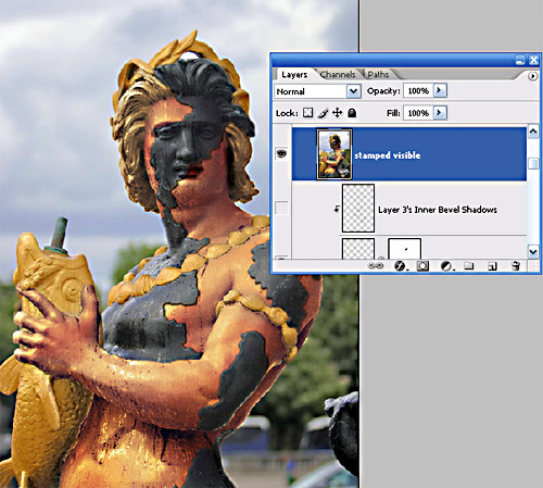 how to make statues look real photoshop