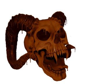 How I chocolatized a skull Photoshop tutorial