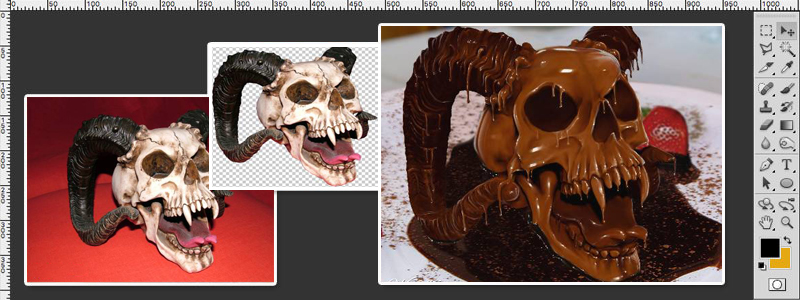 How To Chocolatize A Skull Photoshop Tutorial