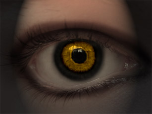 How to Form Demon Eyes Simply - Photoshop Lady