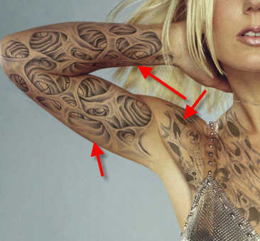 Beginner Photoshop: How To Make Convincing Fake Tattoos