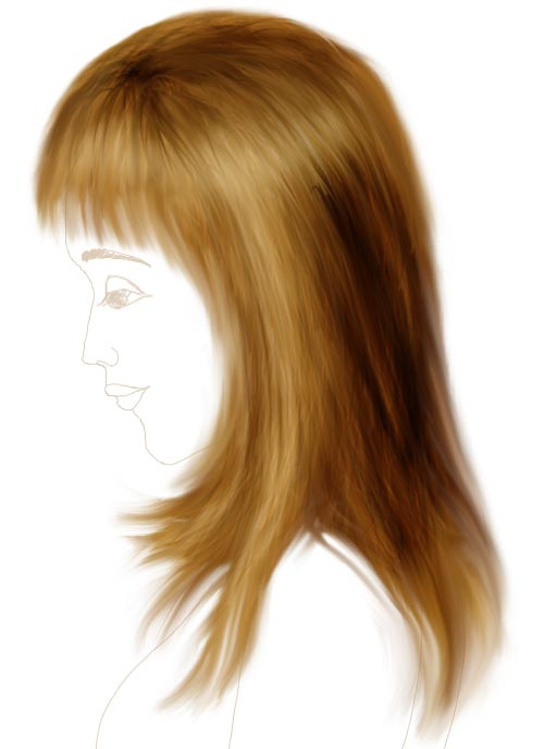 How To Draw Hair In Photoshop Tutorial