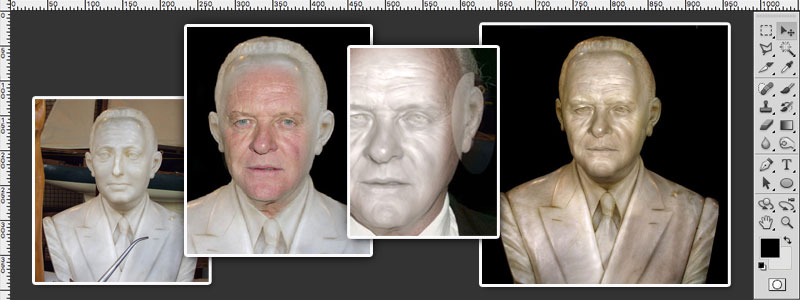 Learn To Turn People Into Stone Statues Photoshop Tutorial