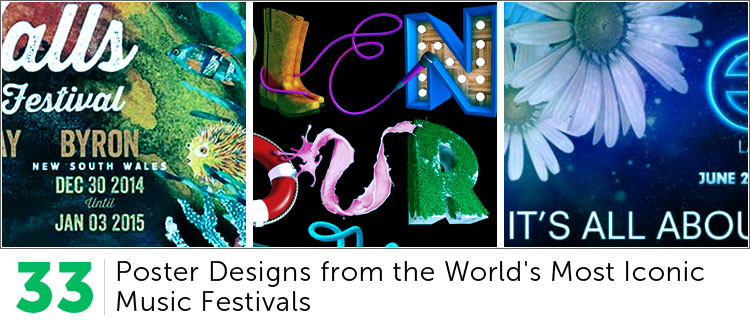 33 Poster Designs from the World's Most Iconic Music Festivals
