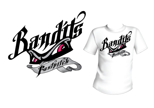 bandits softball club t shirt design
