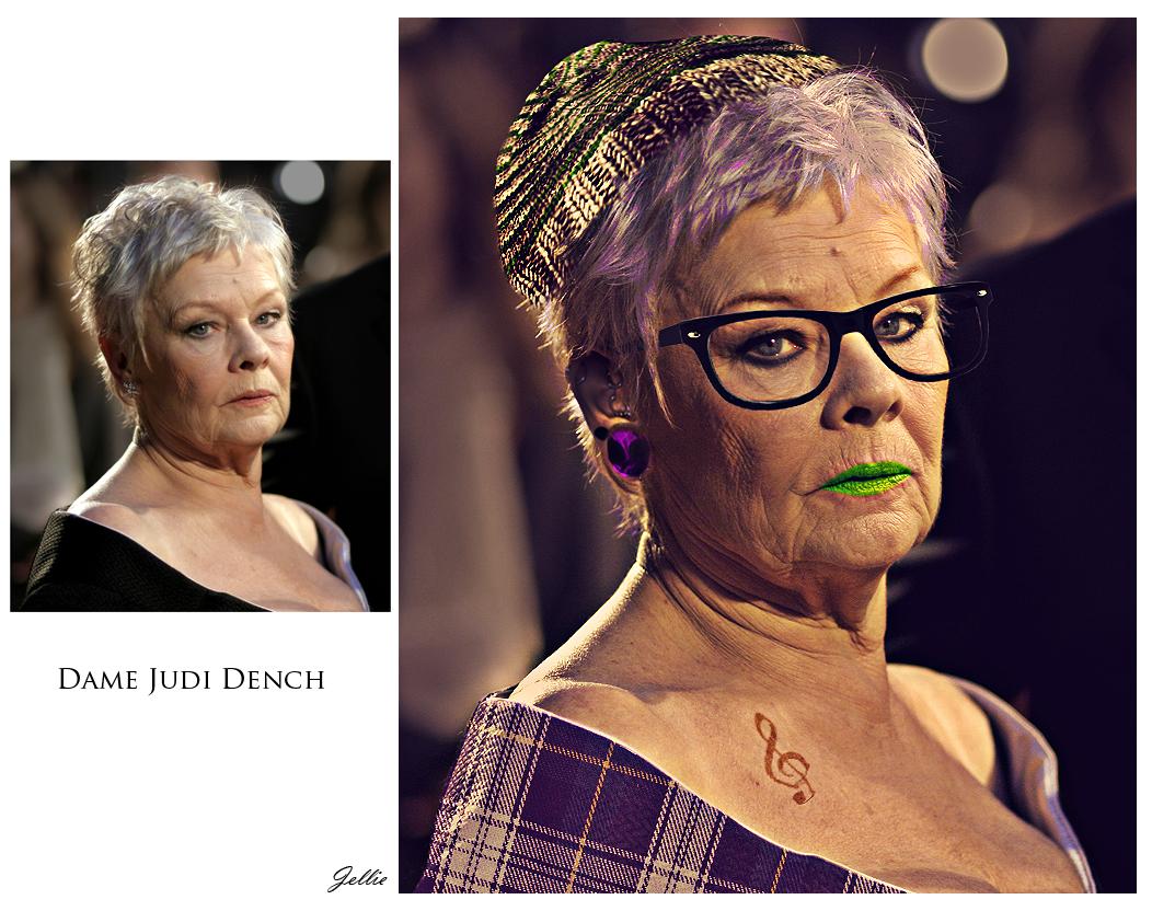 Judi Dench hipster