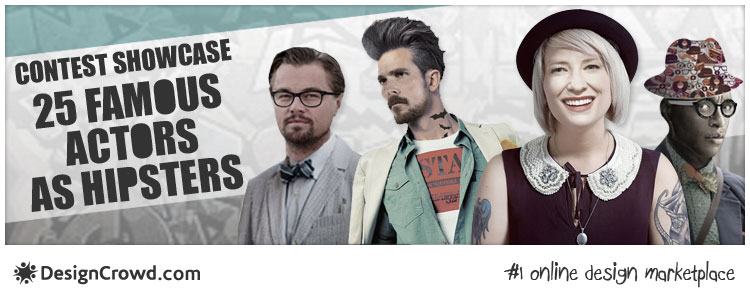 25 Famous Actors Get a Hipster Makeover in Oscars Contest Showcase