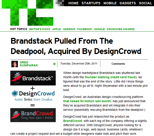 Techcrunch Brandstack