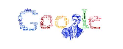 Google Logo Doodle 50th Anniversary of JFK's Inaugural - (US)
