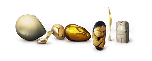 Google Logo Birthday of Constantin Brancusi