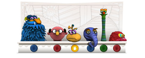 Google Logo Jim Henson Muppets